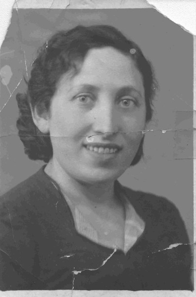 Ruchel Yashon, my mother's first cousin, c. 1947.