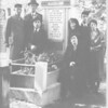 Jacob Brandzel grave:Lodz,1939.Leaning,in veil,is widow,Chana Ray Brandzel,below her is Rachel Weinbaum.At left w hands crossed:Harold Brandzel.The Holocaust will begin later that year.