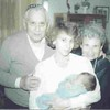 3 Generations: Shirley Kfir Amar with son and parents, 1988?, Tel Aviv?