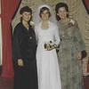Rita Lipman Eichenstein's wedding. l to r: Nira Kfir, Rita, Hadasa Ben-Itto