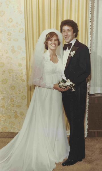 Izzy and Rita Eichenstein, wedding photo, 1976, Chicago