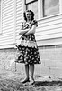 7 - Janie in Flowered Dress c1945