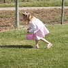 Jenessa hunting easter eggs