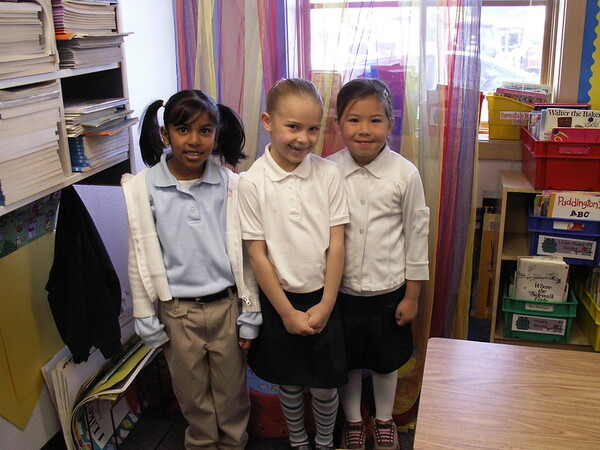 Muskan, Kaylei and Miya on her last day at Merryhill Calvine