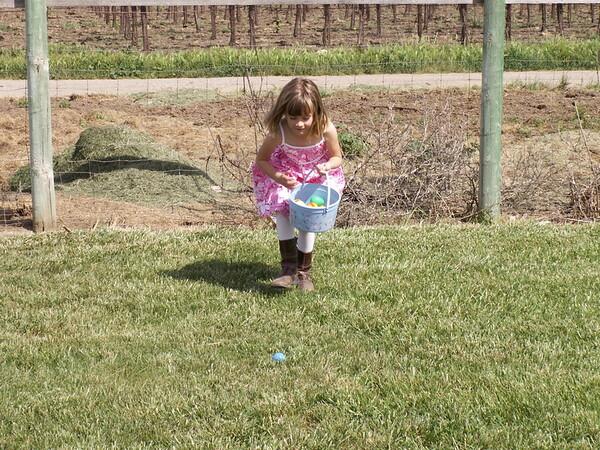 Jamie hunting easter eggs