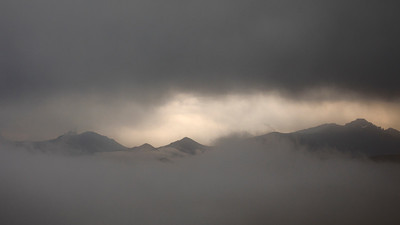 Trail Ridge Road Overlook in the Clouds