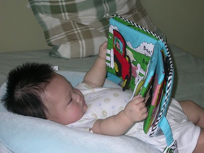Look daddy, i'm reading.
