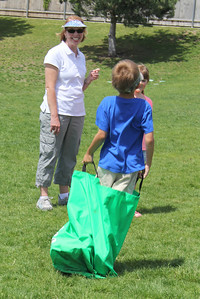Sack Races at field Day & Bryant's teacher- Mrs. Stowe