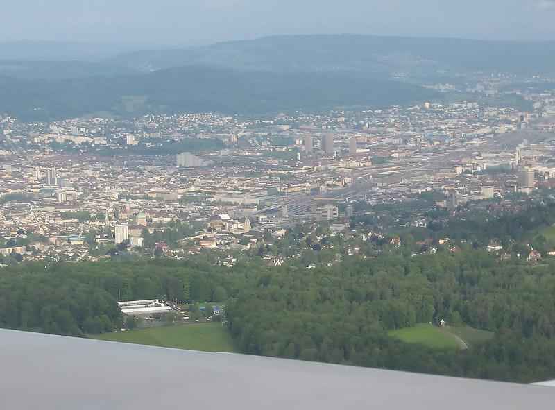 Zurich as seen before landing