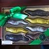 Mackenzies Bday present from Evan - Santa Cruz chococlate banana slugs - made by Mackenzie Chocolates