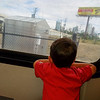 On the (light rail) train heading to the baseball game