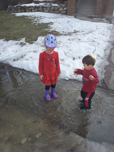 Finding big puddles to play in