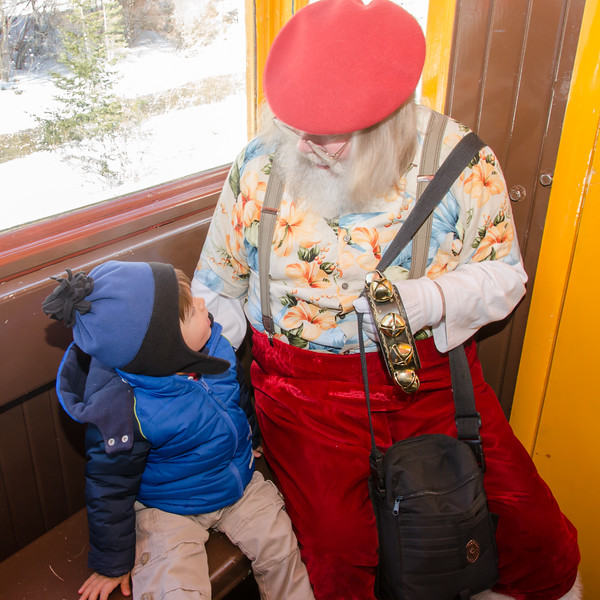 In Georgetown, Colorado to ride the train with Santa