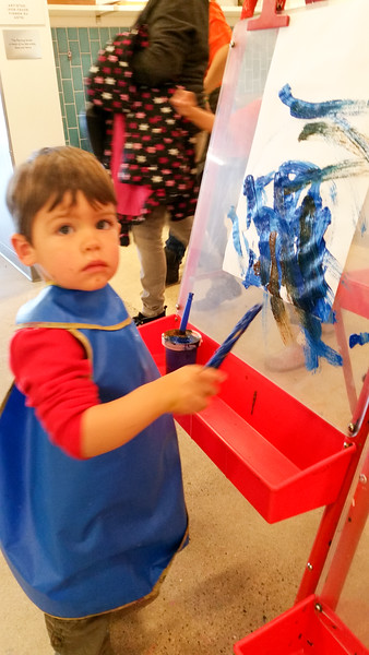 Painting at the Children's Museum