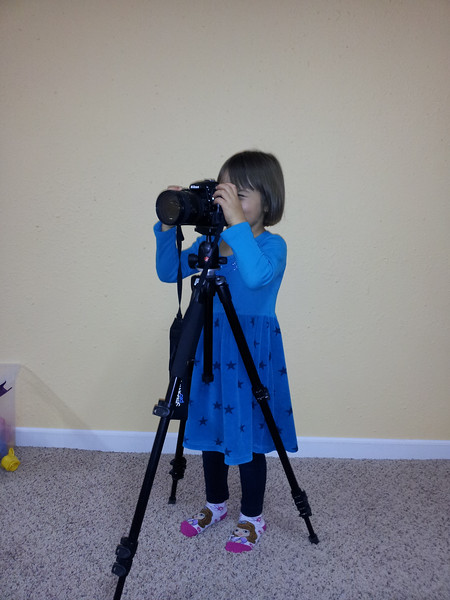 Elena practicing her photography