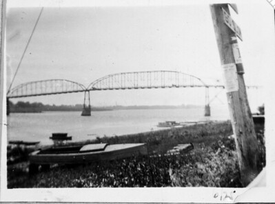 1925-06 - Mississippi  River - Clinton Iowa -1- front