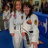 Elena earned her next TKD belt (Camo)