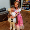 Elena and Trevor playing dress up