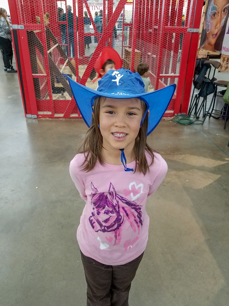 Elena at the National Western Stock Show (Trevor's class field trip)