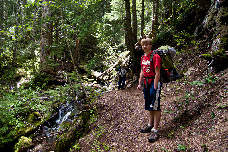 Anthony and Ben after crossing this little creek (many crossings of little creeks on this hike)