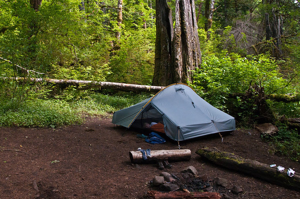 Our home for the evening. This is our new Henry Shire Hogback tent. Only one night in it so far but I really like.