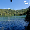 Wahtum Lake. From the campground you descend a couple of hundred steps to get to Wahtum Lake.