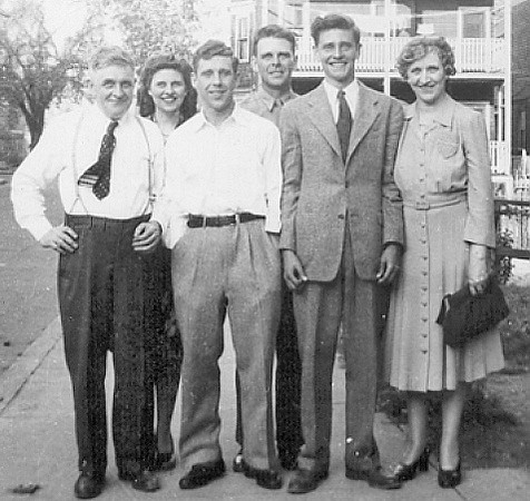 1946 The Larkins<br /> Jim (grandfather), Katie, Alan, Dermot, Jim & Katherine (grandmother)