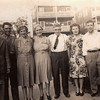 Jim, Dee, Catherine, Mrs. Larkin from Newton (no relation), Jim, Nora, Tippy