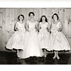 "June 22 1958  Bernard ""Pat"" Loftus and Patricia ""Patsy"" Maguire wedding St. Paul's Cambridge, MA<br /> Bridesmaids photo  Joan, Patsy Mary Kitty"