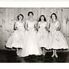 """June 22 1958  Bernard """"Pat"""" Loftus and Patricia """"Patsy"""" Maguire wedding St. Paul's Cambridge, MA<br /> Bridesmaids photo  Joan, Patsy Mary Kitty"""
