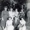 Mary, Frannie, Margaret, Catherine, Nora, Tommy & Nancy (Uncle Dee in background)