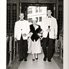 """June 22 1958  Bernard """"Pat"""" Loftus and Patricia """"Patsy"""" Maguire wedding St. Paul's Cambridge, MA<br /> Dennis and Steve were Pat's brothers"""