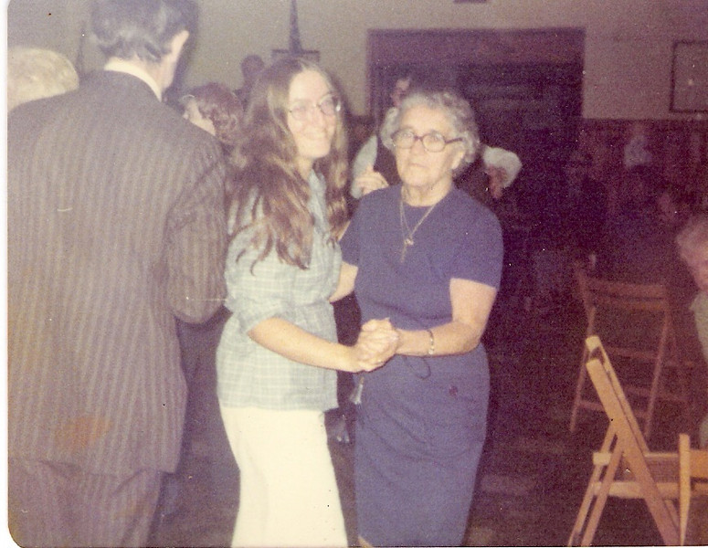 Karin and Mom dancing