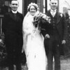 Frances Dominick Prendergast wedding June 19 1937 with Fr Joe Monahan