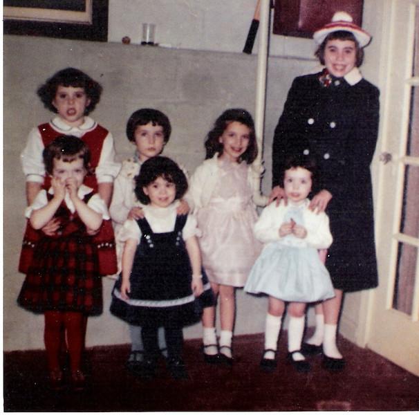 Back is Linda Lambert, Karin Joyce, Sue Sutherby and Kathy Larkin  Front is Cheryl Doherty, Sheila Napoli, Mary Ellen Sullivan.