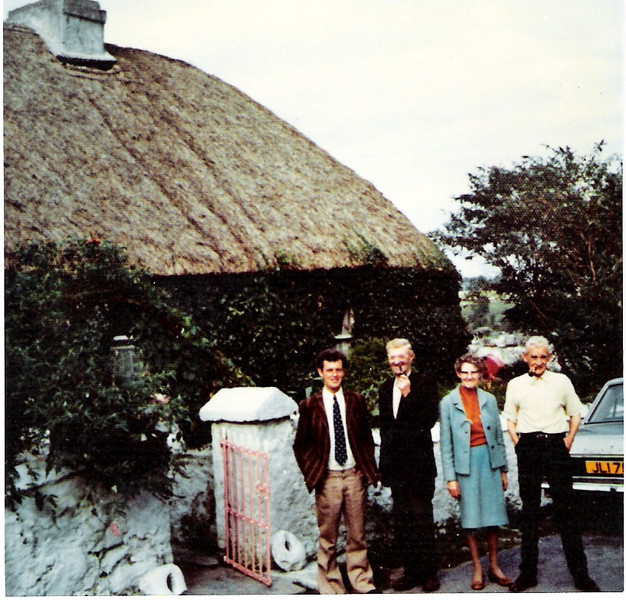 Edmund Roland, Martin Dooley, Fanny and John Joe Roland 1973