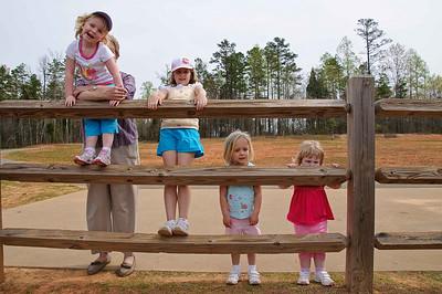 Girl Cousins Easter Visit