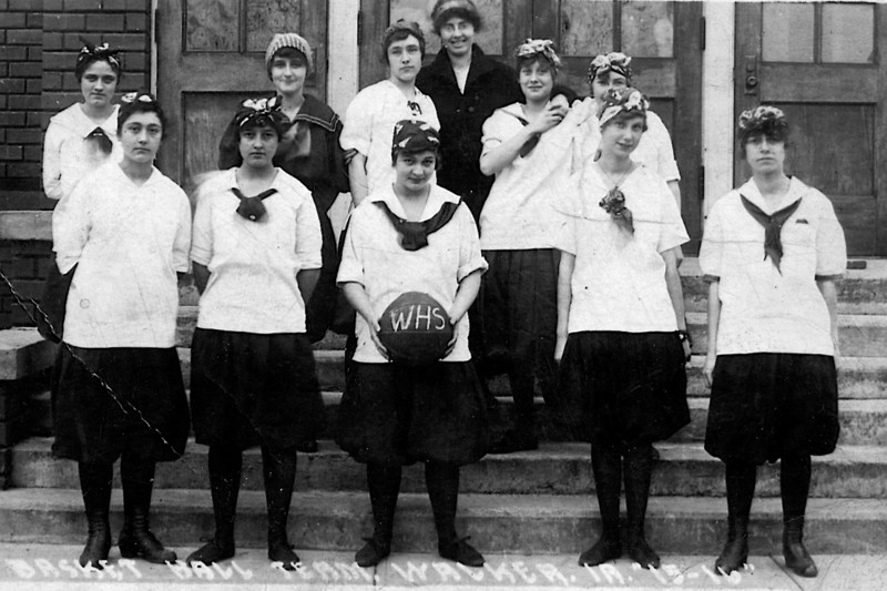 Dot Hall (Heysinger)<br /> Front row, 2nd from left<br /> Basketball Team, l915