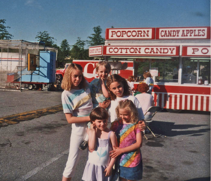 1988 Back: Stephanie, Katie & Jessica - Front: Kerrie & Erin.<br /> Picture was taken at the Brockton irish Festival.