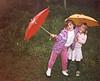1988 Kerrie & Katie in yard