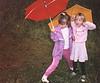 1991 Kerrie & Katie in yard
