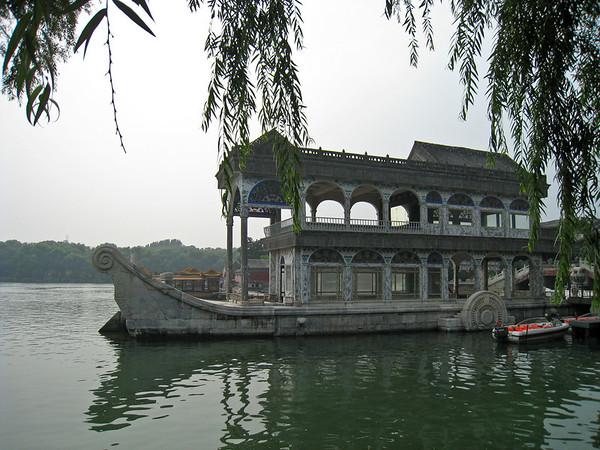 a floating rock boat. go figure