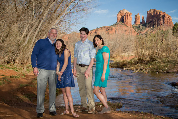 The Goldberg Family in Sedona  --  Ellie's Bat Mitzvah