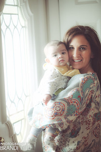 Mrs. Calabrese's grand-daughter, Jennifer, holding her great-grand-daughter, Elle.