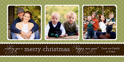 An example of one of 25 Christmas cards you can make by choosing an image and then clicking on the Buy button then choosing card.