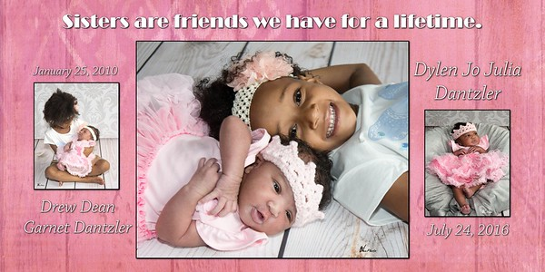 Girls Pink Sisters