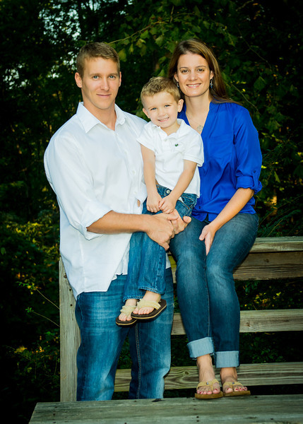 Family portrait in Chesterfield, Virginia