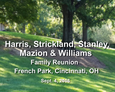 Family  Reunion - French Park, Cincinnati, OH Sept. 4, 2016