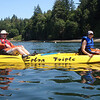 Nigel and Billy kayaking on Pickering Passage off Harstine Island, Shelton, WA.