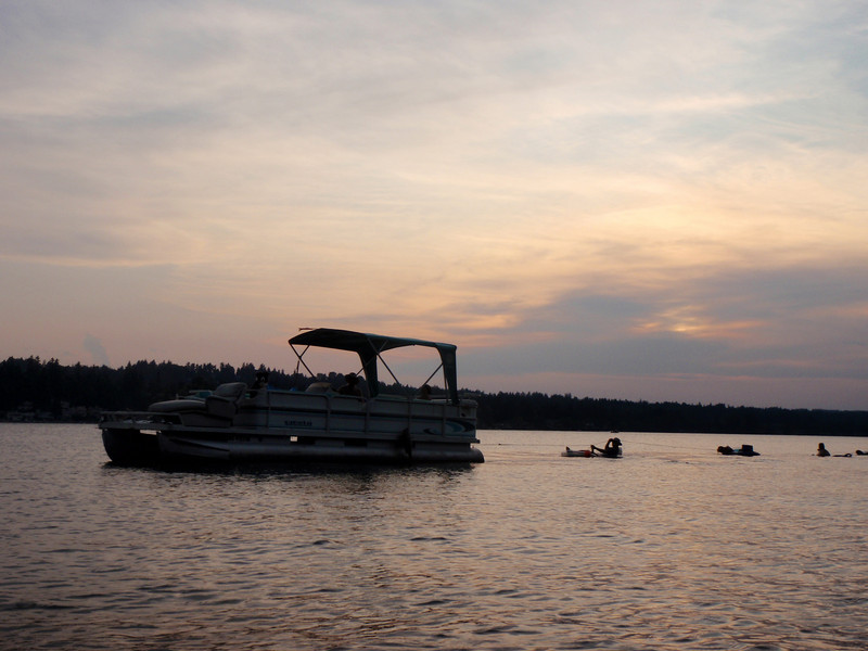 Party barge at sunset!